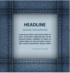 Jeans square frame vector