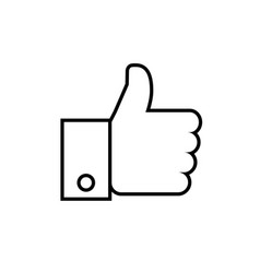 line icon- thumb up vector image