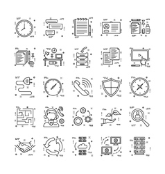 Line Icons With Detail 23 vector