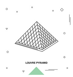 Louvre pyramid vector