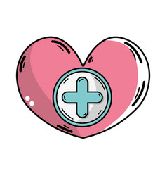 Medicine symbol to help the people vector