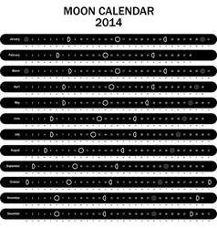 Moon calendar 2014 vector