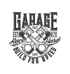 motorcycle car custom garage moto races engine vector image