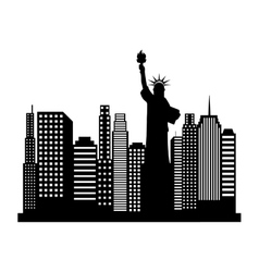 New york cityscape icon vector