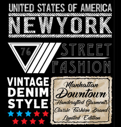 Newyork typography t shirt design vector