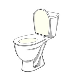 Object on white background flush toilet wc color vector