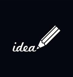 Pencil draw logotype vector