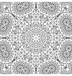 Pretty intricate full frame background on white vector image