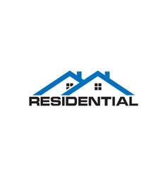 residential real estate house logo design template vector image