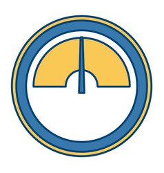 round pressure gauge vector image