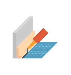 sealant cornice icon vector image