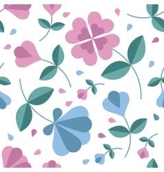 Seamless flower pattern vector