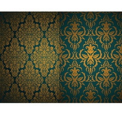 Set seamless damask wallpapers vector