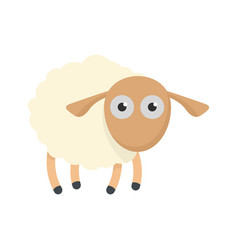Shocked sheep icon flat style vector