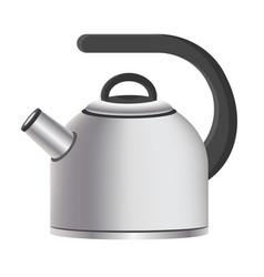 Silver model kitchen kettle vector