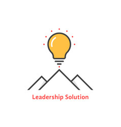 simple leadership solution logo vector image