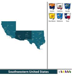 southwestern united states vector image
