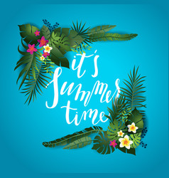 Summer time lettering vector