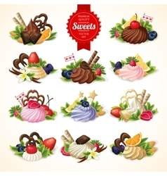 Sweets big set vector