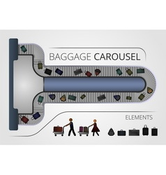 The Baggage carousel construction vector image