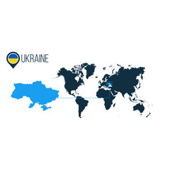 ukraine location modern map for infographics all vector image