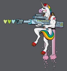 unicorn soldier vector image