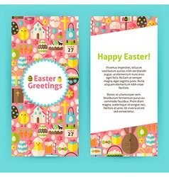 Vertical Flyer Templates for Happy Easter vector image