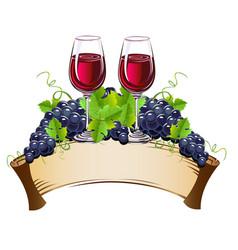 wine glasses still life vector image