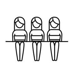 women pictogram cartoon vector image