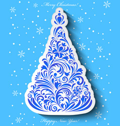 floral christmas tree vector image vector image