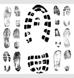 footprint traces vector image