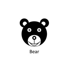 funny bear icon silhouette icon vector image