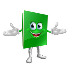happy cartoon book man vector image