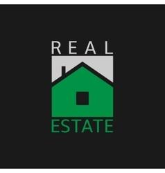 Real estate label vector image
