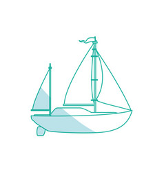sail boat isolated vector image