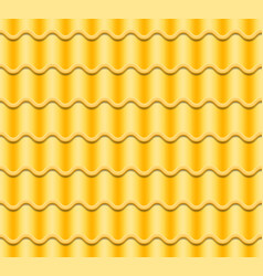 yellow corrugated tile seamless pattern vector image