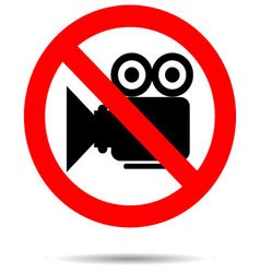 Ban video icon sign vector image vector image