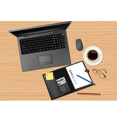laptop computer and notebook vector image