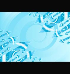 water spirals and arrows vector image vector image