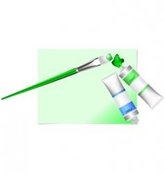 green brush vector image vector image