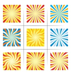 set of abstract backgrounds vector image vector image