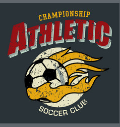 athletic soccer vector image