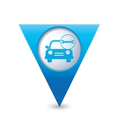 car with wrench icon map pointer blue vector image vector image