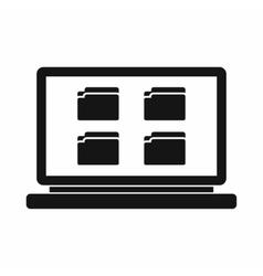 Desktop icon simple style vector image vector image