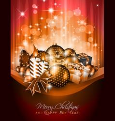 elegant christmas poster vector image