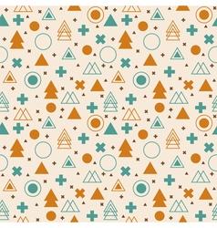 Ethnic geometric seamless pattern Tribal vector image