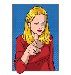 Girl Showing Thumb vector image