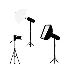 professional photo light equipment set vector image