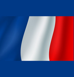 3d flag of france french national symbol vector