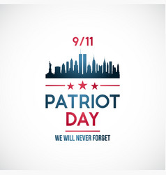 911 patriot day background patriot day banner vector image
